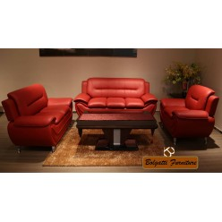 Model Felix 3pcs Sofa Set (Red)
