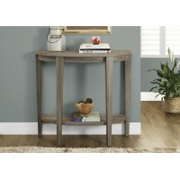 """I-2452 Console Accent table reclaimed-look 36""""L  (dark taupe)"""