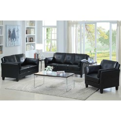 Model IF-8000 3Pc Sofa Set (Black)