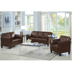 Model IF-8001 3Pc Sofa Set (Brown)
