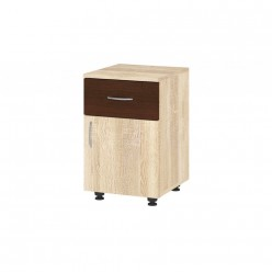 Nightstand Milana (sonoma+dark brown)