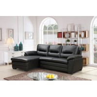 IF-9250 Left hand facing Sofa Sectional (black)