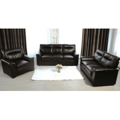 Model Limo 3pcs Sofa Set (Black, Air Leather)