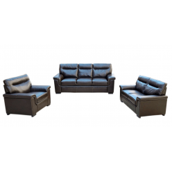 Model Limo 3pcs Sofa Set (Brown, Air Leather)