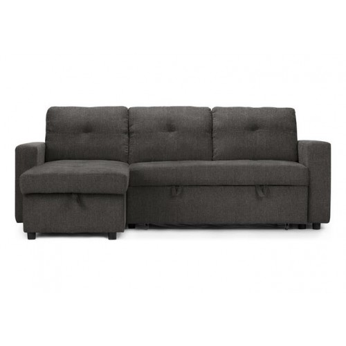 Abby Sectional Reversible Sofa-Bed (Dark Grey)