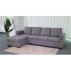 Sofa Diamond  (Grey, Fabric)