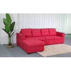 Sofa Diamond (Red, Fabric)