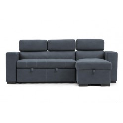 Stanley Sectional Sofa-Bed (Steel blue)