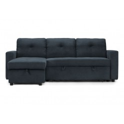 Emmy Sectional Reversible Sofa-Bed (Blue)