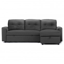 Vicky Reversible Sectional Sofa-Bed (Grey)