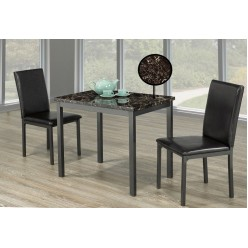 IF-1210 Dining Set 3pc (marble top)