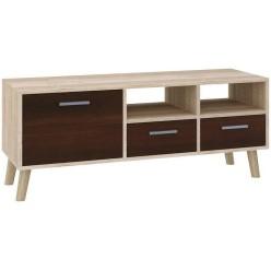 "TV Stand MIRAGE 47""L with 3 storage drawers  (sonoma + dark brown)"