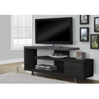 "I-2575 TV Stand - 60""L (Black/Dark Taupe)"