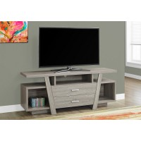 "I-2721 TV Stand - 60""L / Dark taupe with 2 storage drawers"