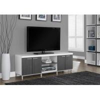 """I-2591  TV Stand – 60""""L white/grey"""