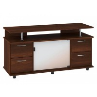"TV Stand MONTANA 47""L with 4 storage drawers (Dark brown)"
