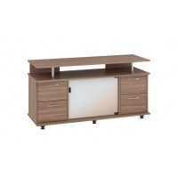 "TV Stand MONTANA 47""L  with 4 storage drawers (truffle)"