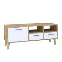 "TV Stand MIRAGE 47""L with 3 storage drawers (tahoe +white)"