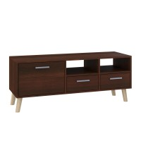 "TV Stand MIRAGE  47""L with 3 storage drawers  (dark brown)"