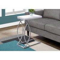 I-3184 Accent Table (glossy white/metal chrome)