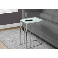 I-3000 Accent Table  (metal chrome with frost tempered glass)
