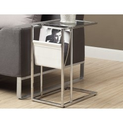 I-3034 Accent Table (glass table top / metal chrome)