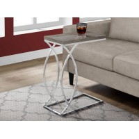 I-3186 Accent Table (dark taupe/metal chrome)
