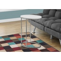 I-3246 Accent Table (white/metal chrome)