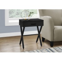 I-3605 Accent Table with drawer (black)