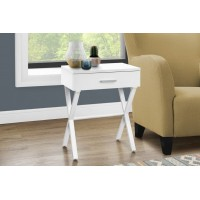 I-3606 Accent Table with drawer (white)