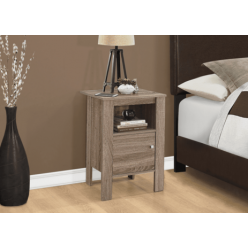 I-2136 Accent Table with storage (dark taupe)