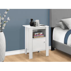I-2137 Accent Table with storage (white)