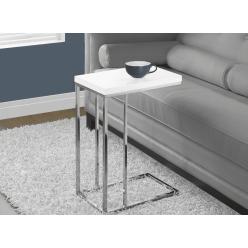 I-3008 Accent Table (white/metal chrome)