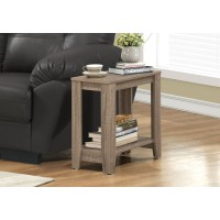 I-3115 Accent Table with shelf (dark taupe)