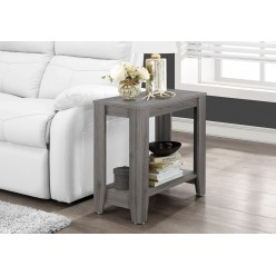 I-3118 Accent Table with shelf (gray)