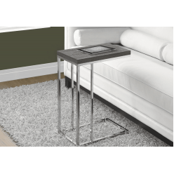 I-3253 Accent Table (light brown/metal chrome)