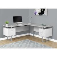 """I-7307 Computer Desk  70""""L (white/cement-look)"""