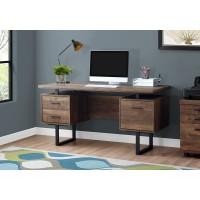 "I-7416 Computer desk - 60""L (brown reclaimed wood/black metal)"