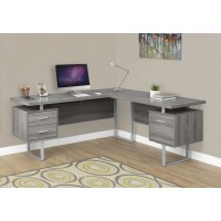 "I-7304 Computer desk - 70""L (dark taupe/left or right facing)"