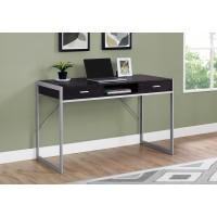 """I-7366 Computer Desk - 48 """"L (cappuccino/metal silver)"""